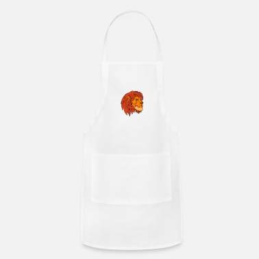 Ruminants Ruminating Lion Head Cartoon Color - Apron