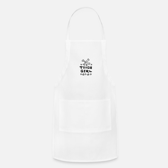 Girl Aprons - Baby Sayings Girl Cute Tough girl - Apron white