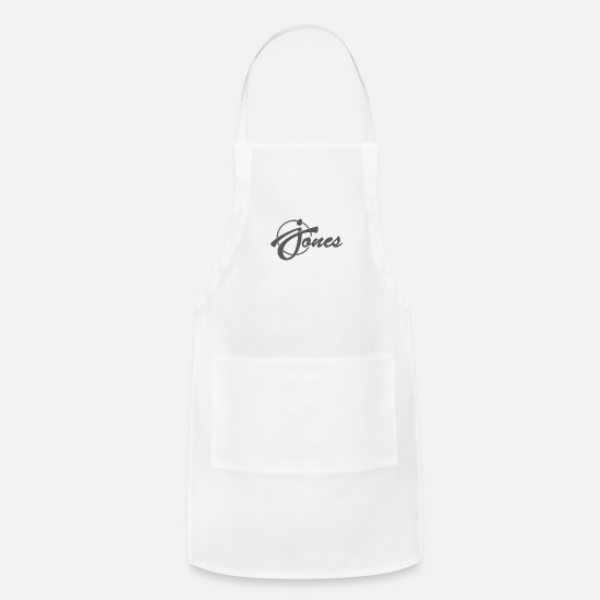 Quirk Aprons - Jones Funny - Apron white