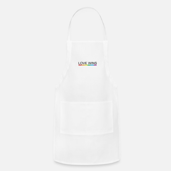 Love Aprons - LOVE WINS - Apron white