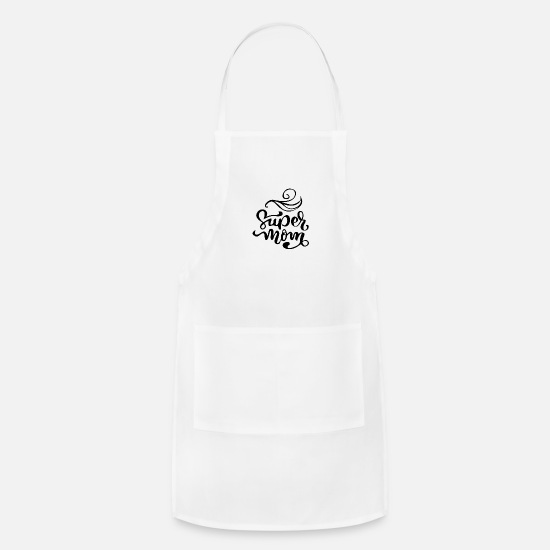 Mummy Aprons - Super mom - Apron white