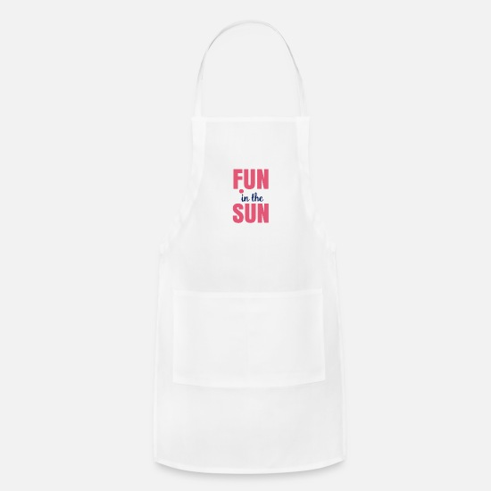 Fundraiser Aprons - Fun in the sun - Apron white