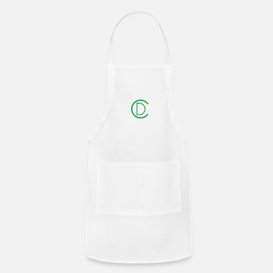 Cd Aprons - CD Green Logo - Apron white