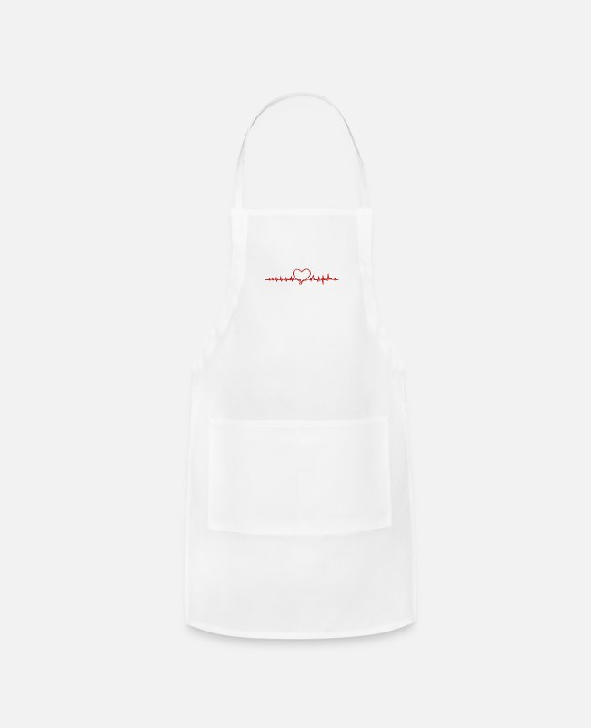 Heart Aprons - Love Heart - Apron white