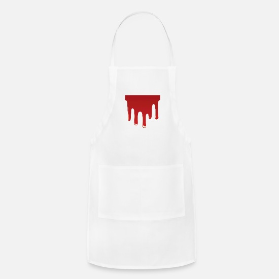 Drip Aprons - Red Blood Drip - Apron white