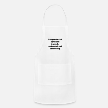 Language languages - Adjustable Apron