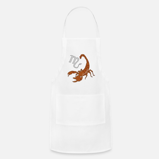 Astrology Aprons - Scorpio zodiac astrology gift shirt - Apron white