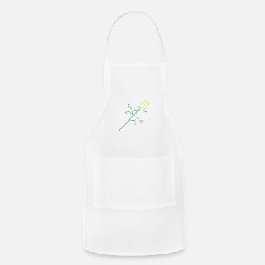 Art Deco Yellow Rose Art Deco - Apron