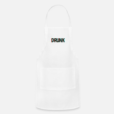 Drunk Texting Drunk Anaglyph 3d Text - Apron