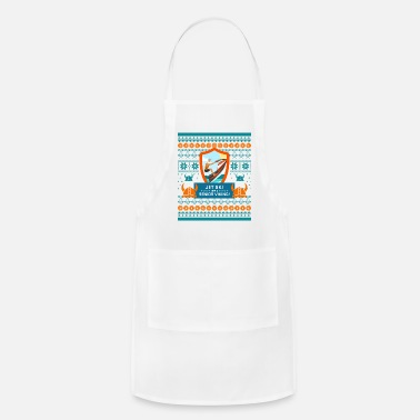 Senior Jet Ski Like a Bearded Senior Viking Ugly Xmas - Adjustable Apron