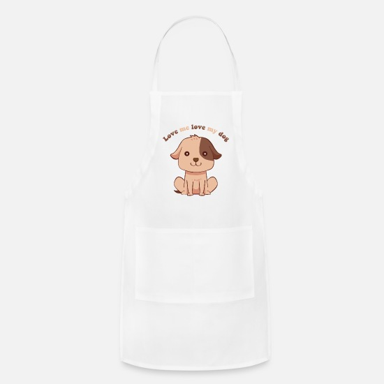 Dog Sayings Aprons - Love my Dog Sayings - Apron white