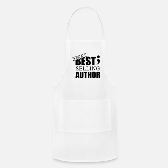 Birthday Aprons - Im a best selling Author - T-Shirt - Apron white