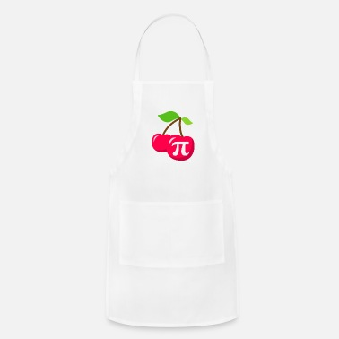 Mathematics Cherry Pi - Pi Day Math design - Apron