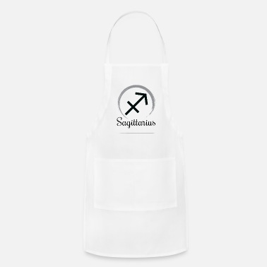 Black And White Zodiac Sagittarius Star Sign Astrology - Men - Apron