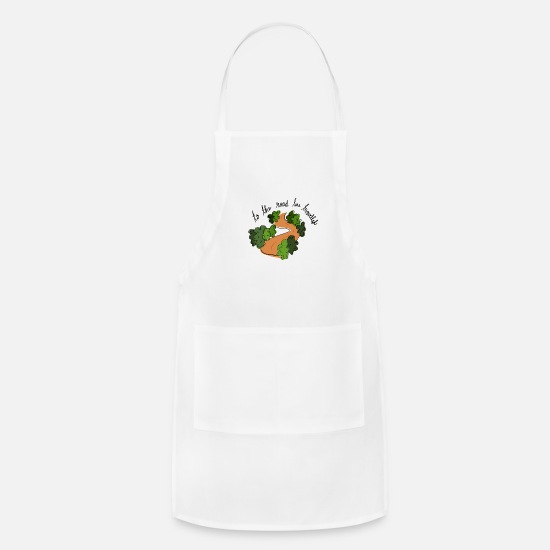 Birthday Aprons - To the road less travelled - Life Motivation - Apron white