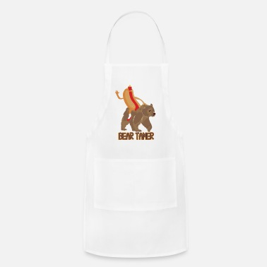 Hot Dog Hot Dog Bear Tamer. Hot Dog Riding A Bear Funny - Apron