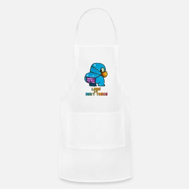 Blue Funny creature wearing mask to prevent viris - Apron