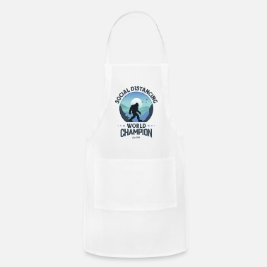 House Social Distancing World Champion Funny Bigfoot - Apron