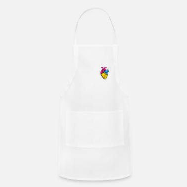 Equalizer Pan Pride LGBTQ Retro Pansexual Heart - Apron