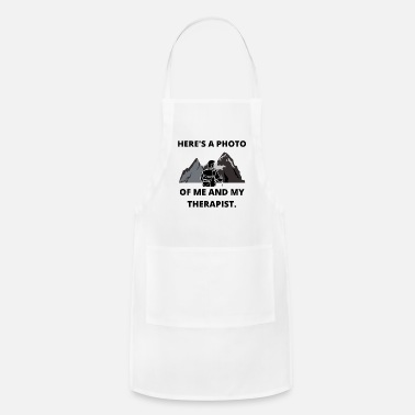 Mountain Climbing HIKING PHOTO ME AND THERAPIST FUN QUOTE GIFT IDEA - Apron