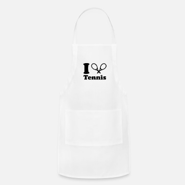 I Love Tennis i love tennis because - Adjustable Apron