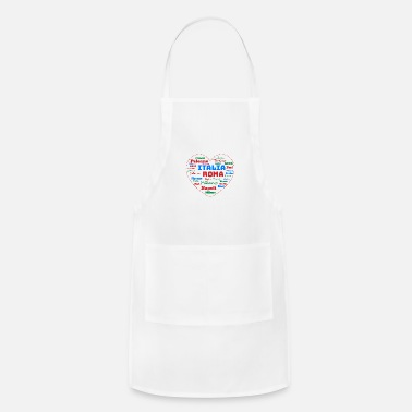 Cuore ITALY HEART ITALIA CUORE WORD CLOUD HOLIDAY (AZUR) - Apron