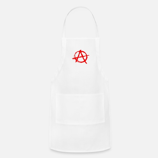 Anarchy Aprons - Anarchy Symbol - Apron white