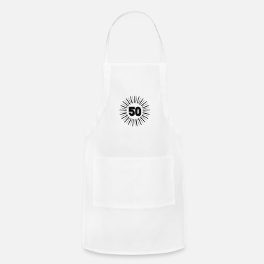 Round Birthday 50 Years Birthday Round Rays - Apron