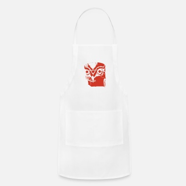 Totem Pole Indian Totem Owl as Gift Idea - Apron