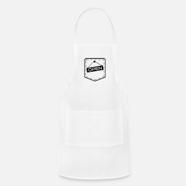 Outline Graphics Breast Pocket Outline Graphic OPEN Sign - Apron