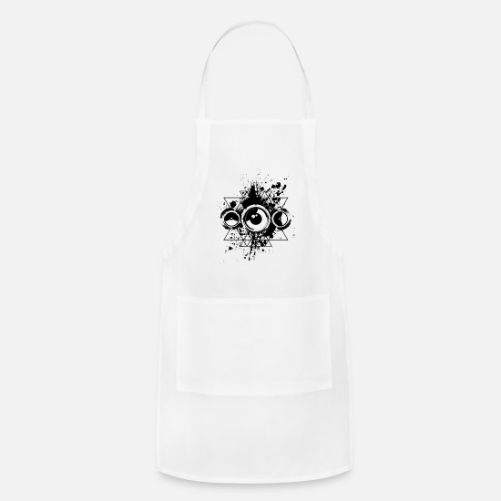 Festival Aprons - Serious Beat Bad Bass Hard Style Electronic Music - Apron white