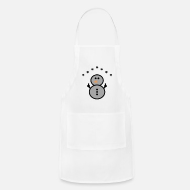 Middle Finger Winter - Cute Snowman - 12 - Adjustable Apron