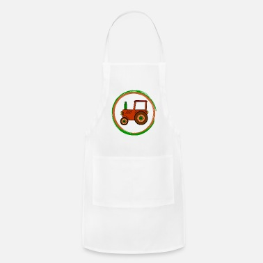 Toy brown toy tractor / toy tractor - Adjustable Apron