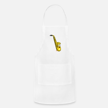 Collections Saxophone Laughing HARIZ Instruments Children Laug - Apron