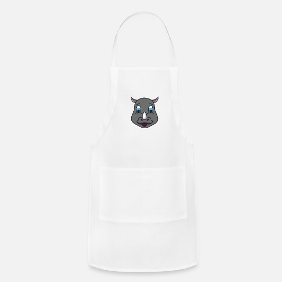 Pet Aprons - Rhinoceros - Apron white