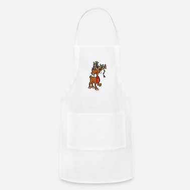 Fun Christmas Reindeer Xmas - Adjustable Apron