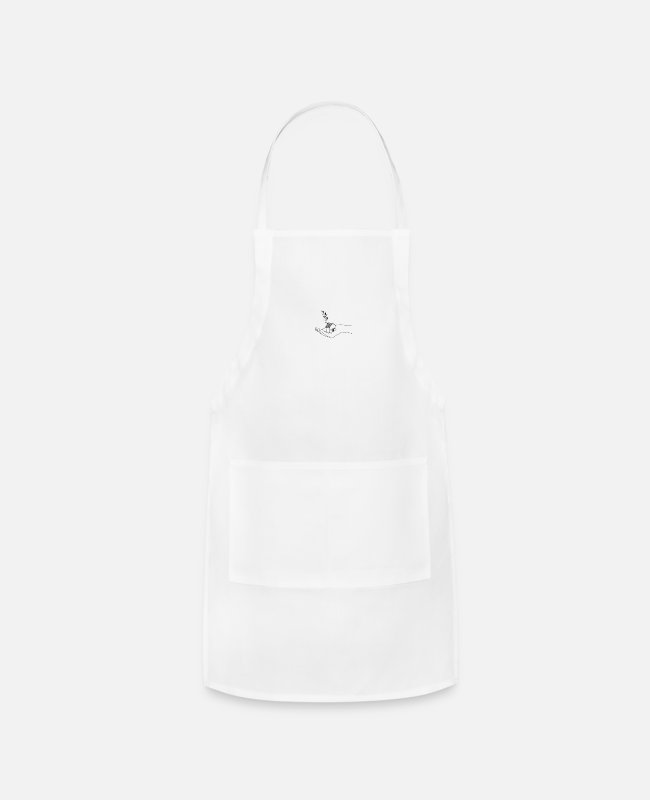 Aesthetic Aprons - house in hand - Apron white