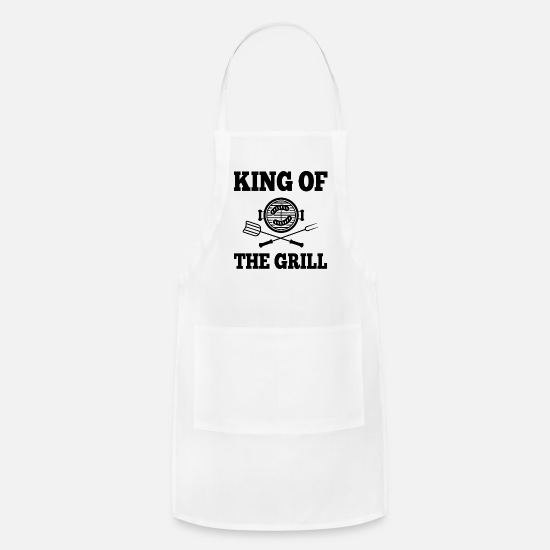 Bbq Aprons - King Of the Grill - Apron white