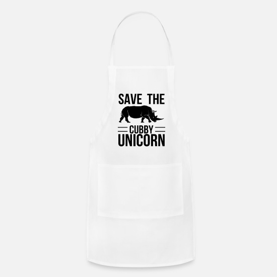 Cloud Aprons - Unicorn on Cloud Unicorns Fable - Apron white