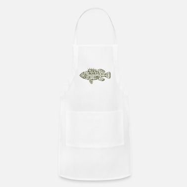 Maori Fish Maori Olive Green - Adjustable Apron