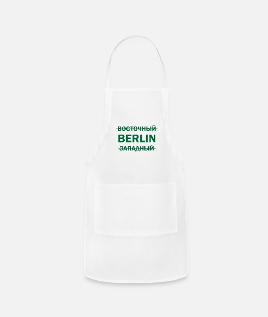 Easter Aprons - West East Berlin GDR USSR Soviet Union gift - Apron white