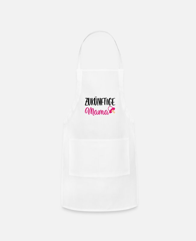 Pregnancy Aprons - Expectant mom baby family gift - Apron white