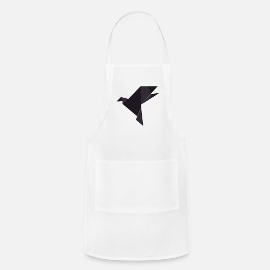 Birthday Aprons - Origami Bird - Apron white