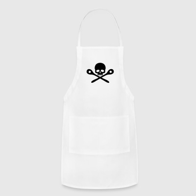 Skull cooking / Wooden spoon - Adjustable Apron