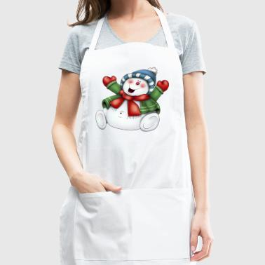 SNOWMAN WITH SCARF - Adjustable Apron