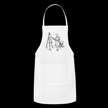 maler painter pinsel paint farbe artist color colo - Adjustable Apron