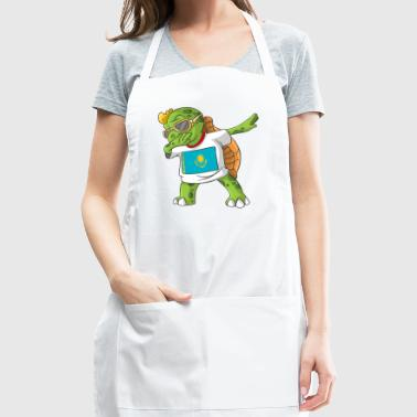 Kazakhstan Dabbing Turtle - Adjustable Apron