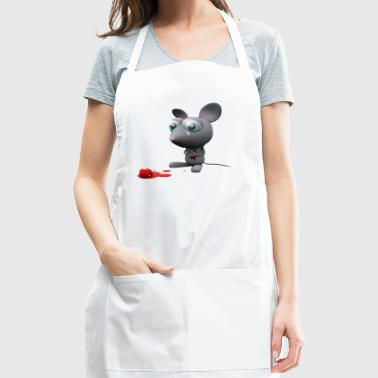 mouse sad - Adjustable Apron