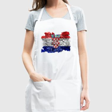 Croatia Vintage Flag - Adjustable Apron
