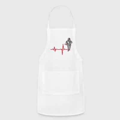 shirt gift heartbeat fire department - Adjustable Apron